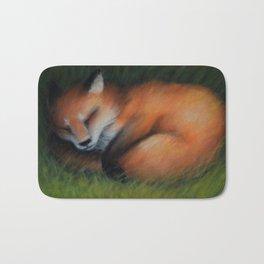 Sleeping fox Bath Mat