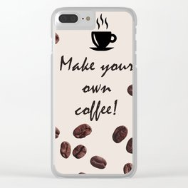 Coffee Lovers Clear iPhone Case