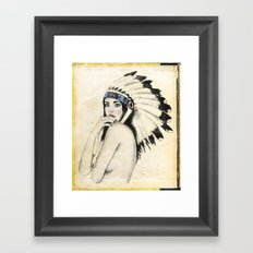 Like a native Framed Art Print