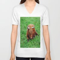 buffalo V-neck T-shirts featuring buffalo by  Agostino Lo Coco