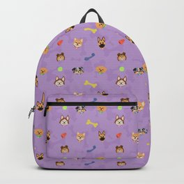 Dog Toy Pattern Backpack