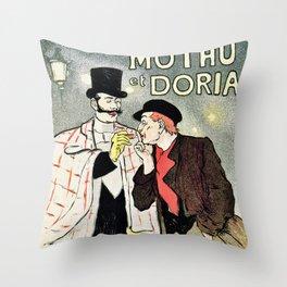 Mothu et Doria Throw Pillow