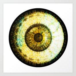 Golden Brown  Eyball Jewel Art Print