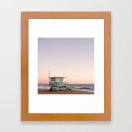 Lifeguard House, Manhattan Beach Framed Art Print