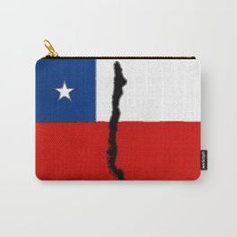 Chilean Flag with Map of Chile Carry-All Pouch