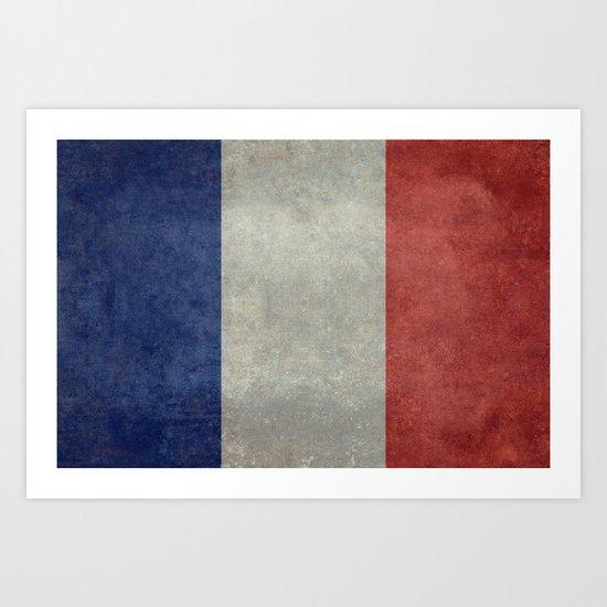 National Flag of France Art Print