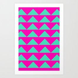 Neon Pink & Aqua Art Print