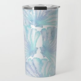 Shell Ya Later - Turquoise Seashell Pattern Travel Mug