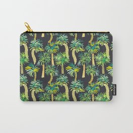 Tropical Palm Tree Pattern Carry-All Pouch