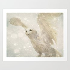 Owl In Winter Art Print