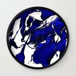 Royal Blue Abstract I Wall Clock