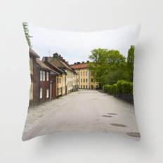 Stockholm, Sweden Old Streets Throw Pillow