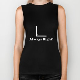 Always Right Men's Funny Angle Math T-Shirts Biker Tank