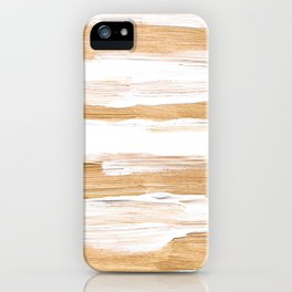 Golden Strokes iPhone Case