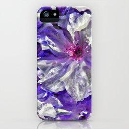 Purple Blossoms iPhone Case