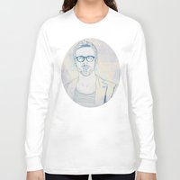 ryan gosling Long Sleeve T-shirts featuring RYAN by Itxaso Beistegui Illustrations