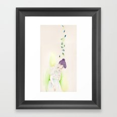 The Purple, the Green, and the Deep Blue Framed Art Print