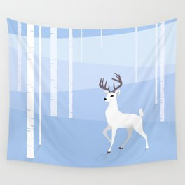 Reindeer and Birch Wall Tapestry