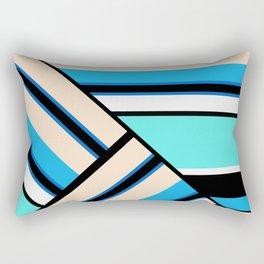 Retro . Combined stripes . Rectangular Pillow
