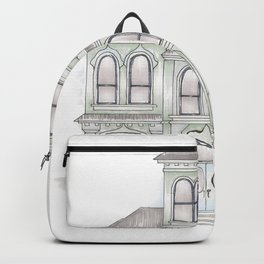 Green Italianate Victorian Backpack
