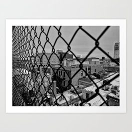 A Squared Cage Art Print