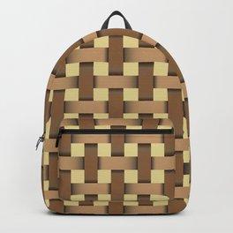 wicker seamless pattern Backpack