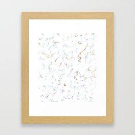 DD Squiggles Framed Art Print