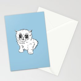 Black Metal Kitty Stationery Cards