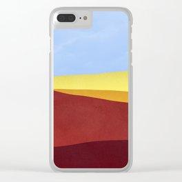 DESERT minimalist Clear iPhone Case