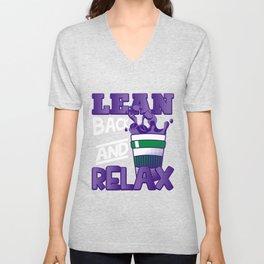 Lean & Relax Codeine Double Cup Unisex V-Neck
