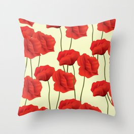 Red flowers #society6 Throw Pillow