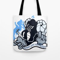baphomet Tote Bags featuring BAPHOMET by QueenBees