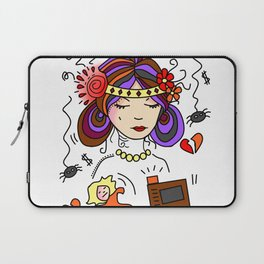 Crown of Pain - Anxiety - Zine Laptop Sleeve