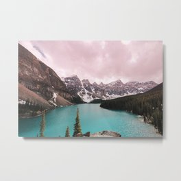 Moraine Lake Banff National Park Metal Print