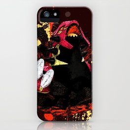 Genshi Ruby Groudon iPhone Case