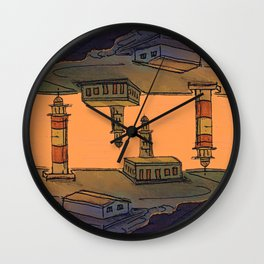 In Love with the Sea / Lighthouses Fuencaliente Wall Clock
