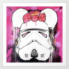 MINI TROOPER — On Pink Art Print