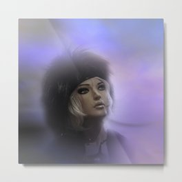 fashiondoll on pastell background Metal Print
