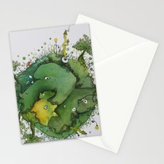 the green planet Stationery Cards