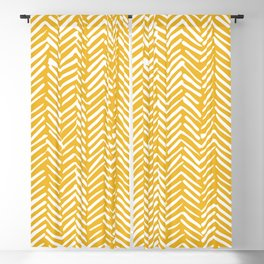 Boho Mudcloth Pattern, Summer Yellow Blackout Curtain