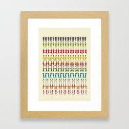 People Framed Art Print