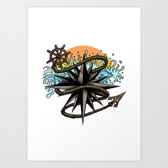 Nautical Splash Art Print