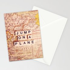 jump on a plane Stationery Cards