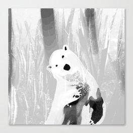 Unique Black and White Polar Bear Design Canvas Print