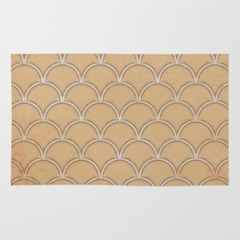 Abstract large scallops in iced coffee with texture Rug
