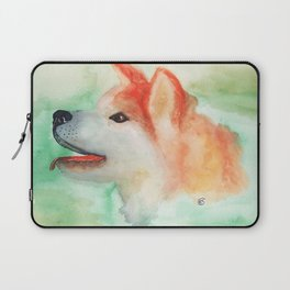 Watercolor Akita Inu dog portrait Laptop Sleeve