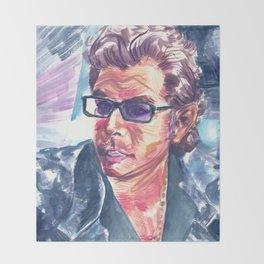 "Jurassic Park : Jeff Goldblum/Ian Malcom : ""Chaotician 4 / 4"" Throw Blanket"