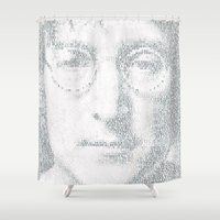 imagine Shower Curtains featuring Imagine by Robotic Ewe