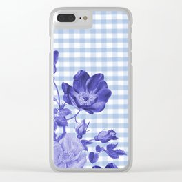 Floral Gingham Clear iPhone Case