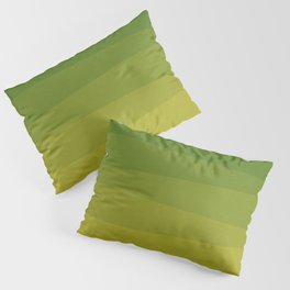 Shades of Grass - Line Gradient Pattern between Lime Green and Bright Yellow Pillow Sham